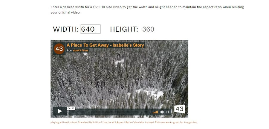 free video and image ratio tool