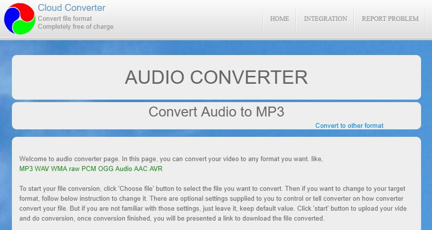 free audio format to audio format converter