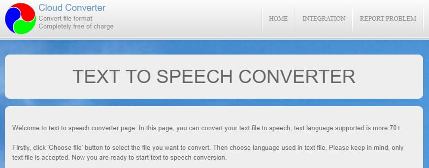 free online text to speech converter