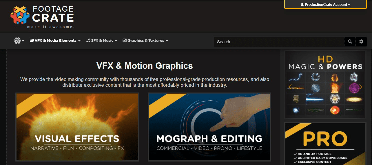 free video effects and motion graphics