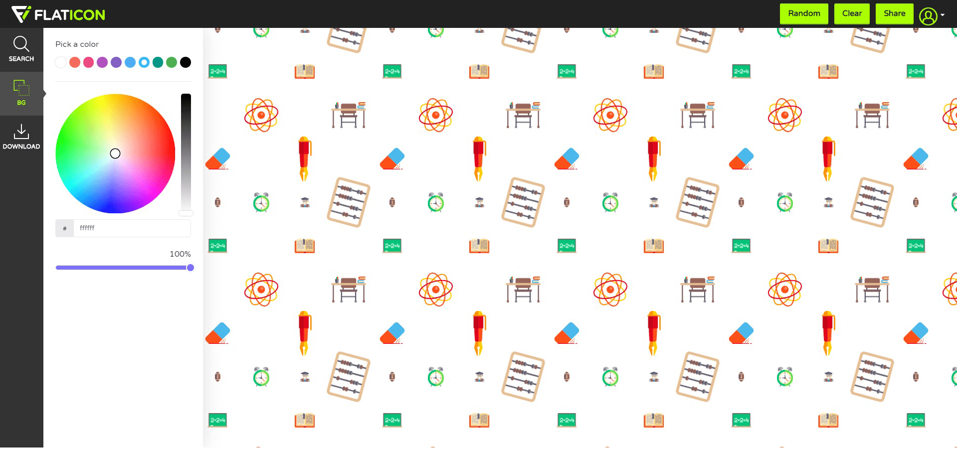 flaticon free online pattern maker