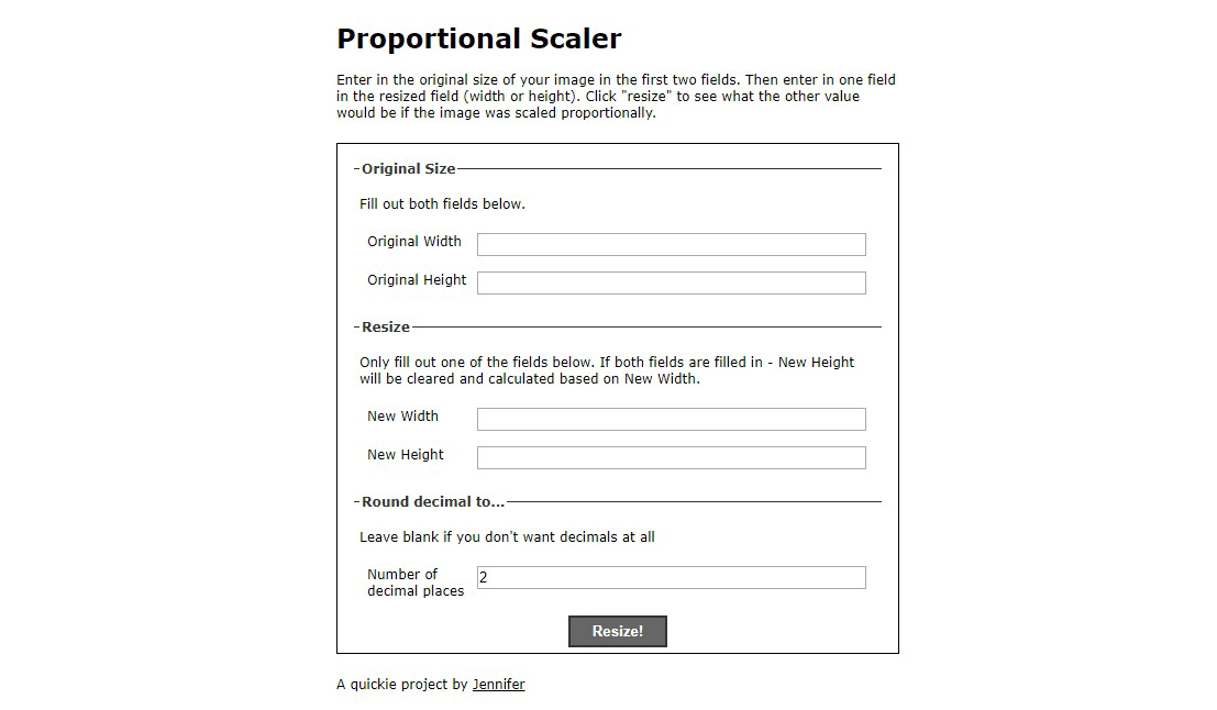 free proportional scale calculator