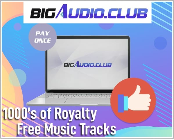 1000s of Royalty Free Music Tracks