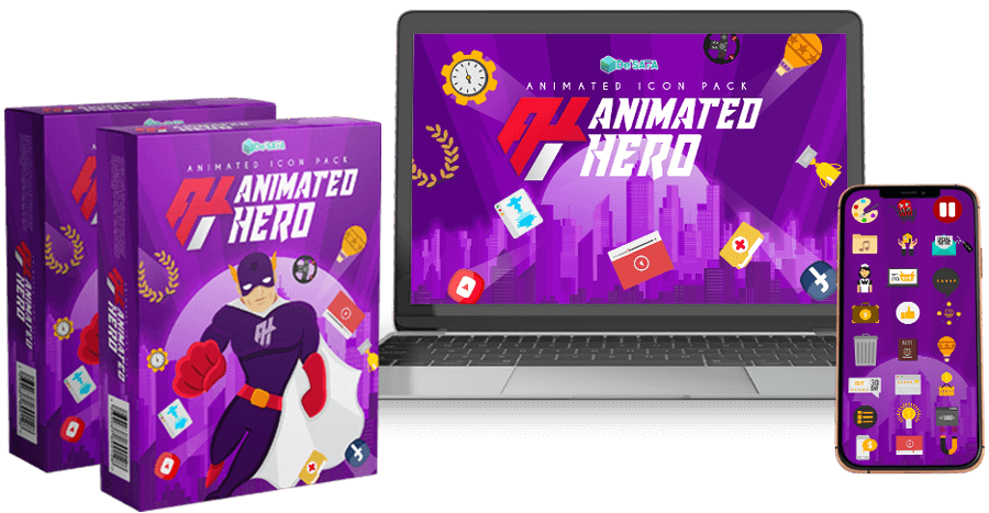 Animated Hero Video Graphics & Bonuses