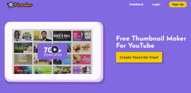 Picmaker free video thumbnail creator